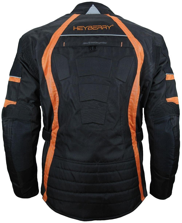 3XL HEYBERRY Herren Touren Motorradjacke Textil schwarz wei/ß Gr