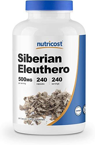 Nutricost Siberian Eleuthero 500mg, 240 Capsules – Eleutherococcus Senticosus – Gluten Free Non-GMO