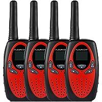 $34 » FLOUREON 4 Packs Walkie Talkies Two Way Radios 22 Channel 3000M (MAX 5000M Open…