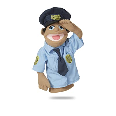 Melissa & Doug Police Officer Puppet with Detachable Wooden Rod for Animated Gestures: Toys & Games