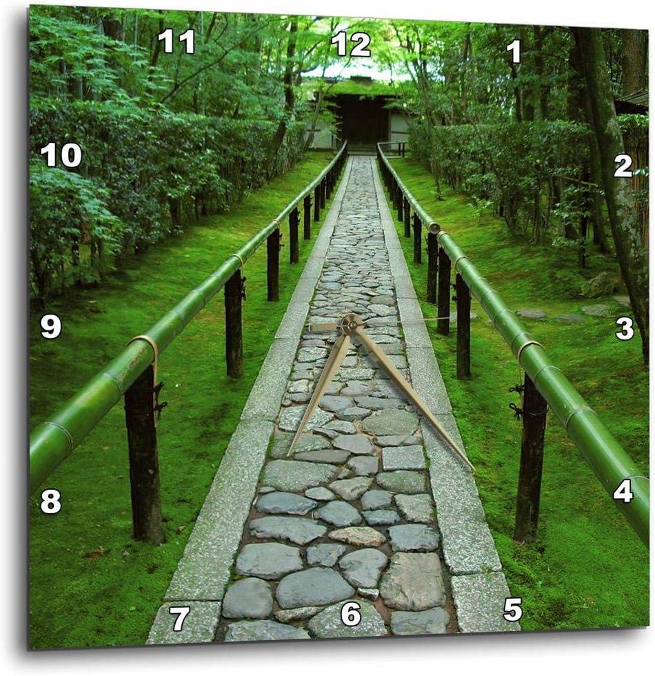3dRose dpp_72737_1 Zen Garden Path, Kyoto, Japan-As15 Ste0081-Shin Terada-Wall Clock, 10 by 10-Inch