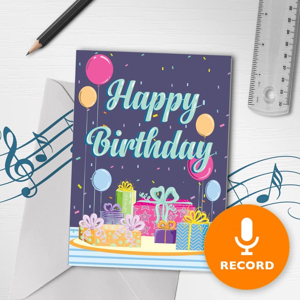 Amazon.com: Happy Birthday Card With Music  Musical Birthday Card
