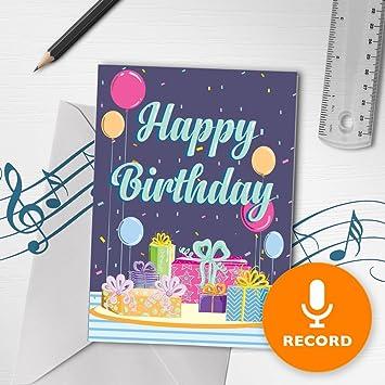 Amazon.com: Tarjeta de felicitación de cumpleaños con música ...