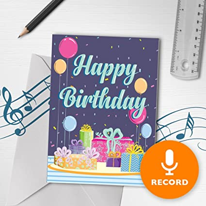 Amazon Happy Birthday Card With Music Musical Birthday Card