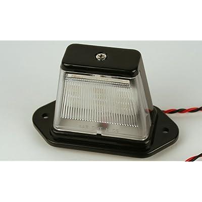 Truck RV ATV Snowmobile Trailer LED License Plate Light - Black Finish: Automotive
