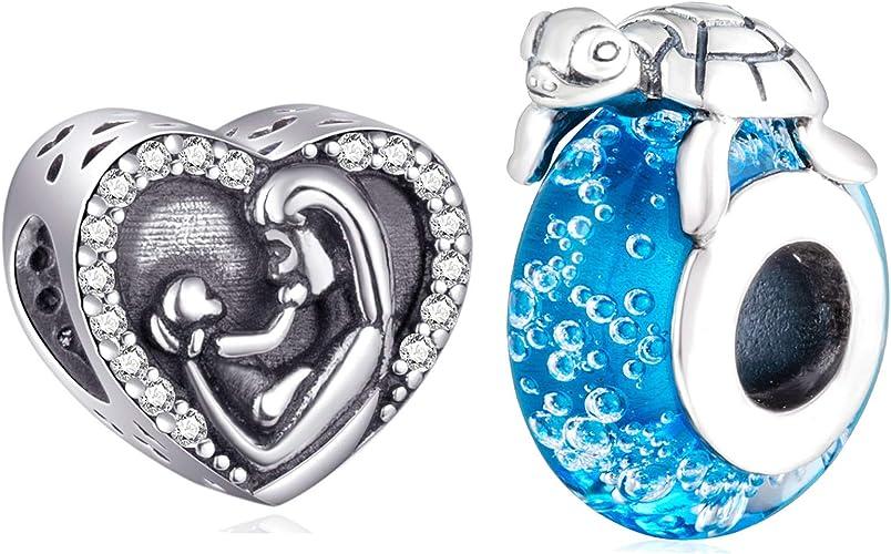 Matching Set Ocean Blue Flameworked Glass Pendant /& Earrings Set Anniversary Gift Gift for Mom