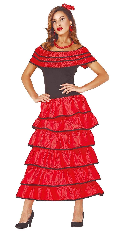 Sandali Donna Flamenco Senorita Costume Adulti Spagnolo Ballerino Costume Vestito da donna