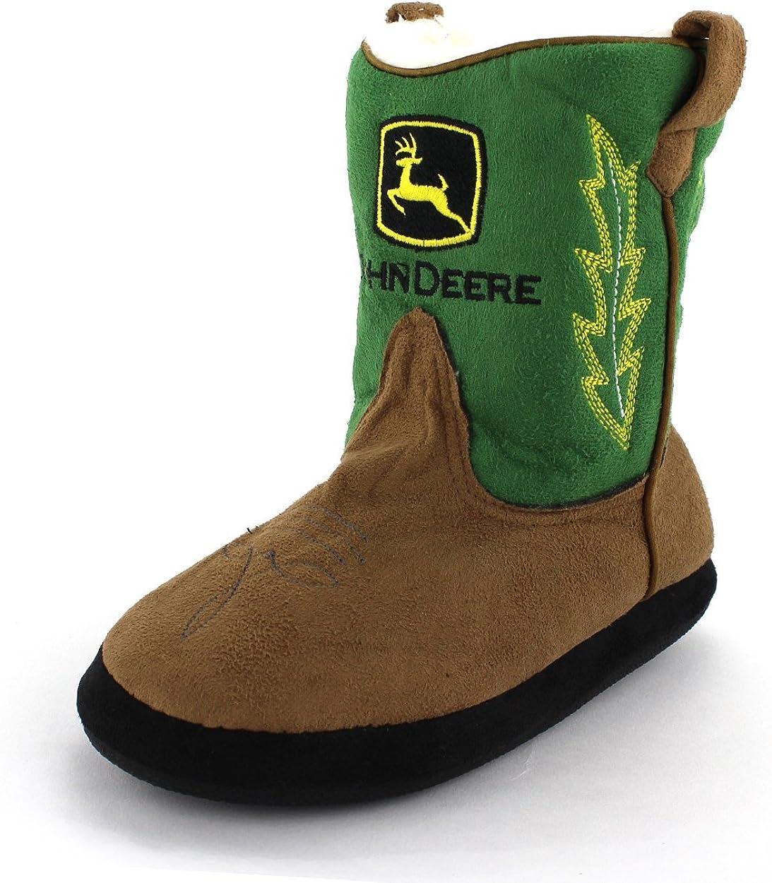 John Deere Boys Square Toe Pull On Cowboy Fashion Boot