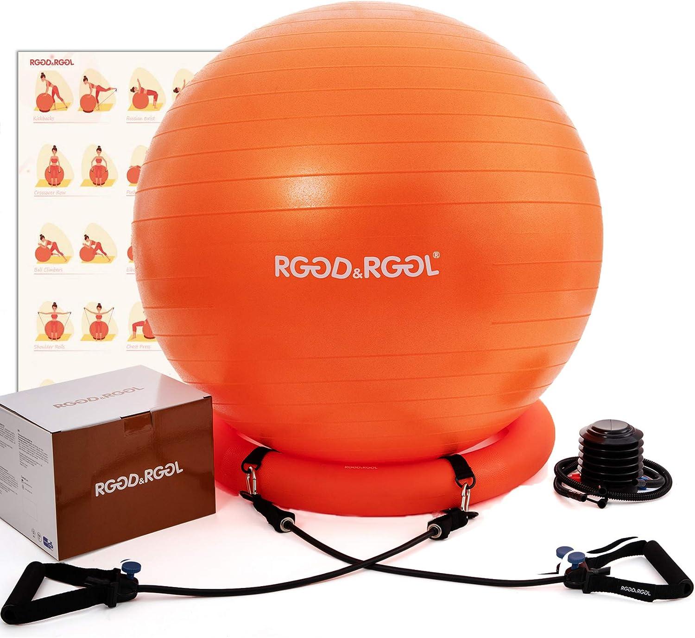 Capacit/é jusqu/à 300 kg pour Yoga Grossesse Chaise Balle dexercice de Yoga avec Pompe Rapide Fitness RGGD/&RGGL Ballon de Fitness Chaise d/équilibre Bureau