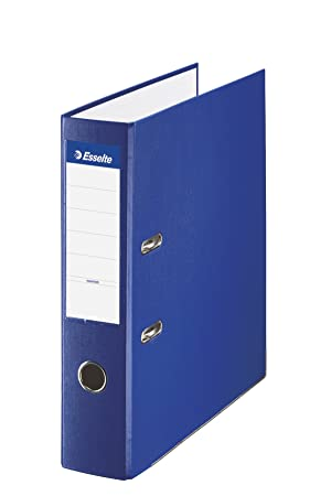 Esselte 42303, Archivador de Palanca de PP de Plástico Forrado, Azul, Anchura lomo: 75 mm: Amazon.es: Oficina y papelería