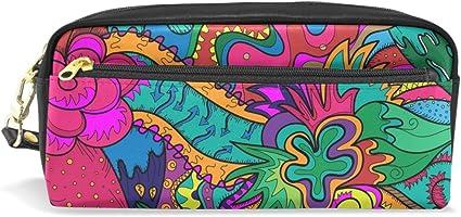 coosun Hippie dibujo Le Gusta Como Stoner Art estudiantes estuche de piel sintética gran capacidad Escuela Pluma bolso de la bolsa Papelería Caso Maquillaje bolsa de cosméticos: Amazon.es: Oficina y papelería
