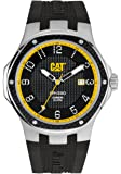 CAT Navigo Carbon Date Men's Quartz Watch with Black Dial Analogue Display and Black Silicone Strap A5.141.21.111