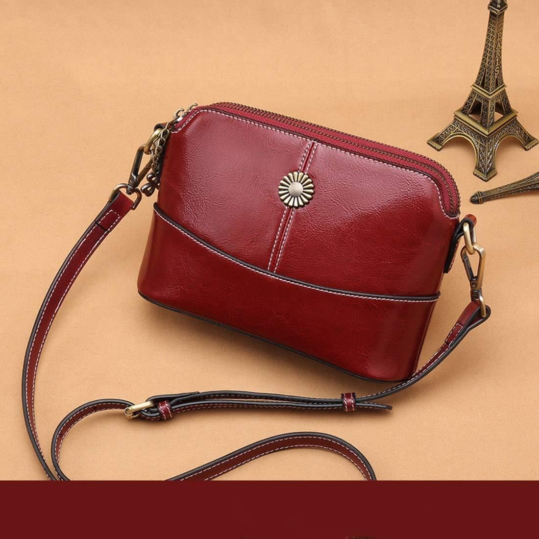 ArotOVL Echtes Leder Frauen Clutch Crossbody Tasche Handtasche Tote Schulter Umhängetasche für Frauen (Farbe   rot) B07PZ328CS Schultertaschen Tadellos