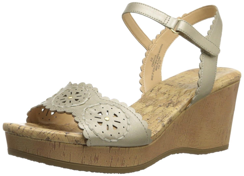 Easy Spirit Women's Marvela Wedge Sandal B00I6CG15W 6.5 B(M) US|Gold