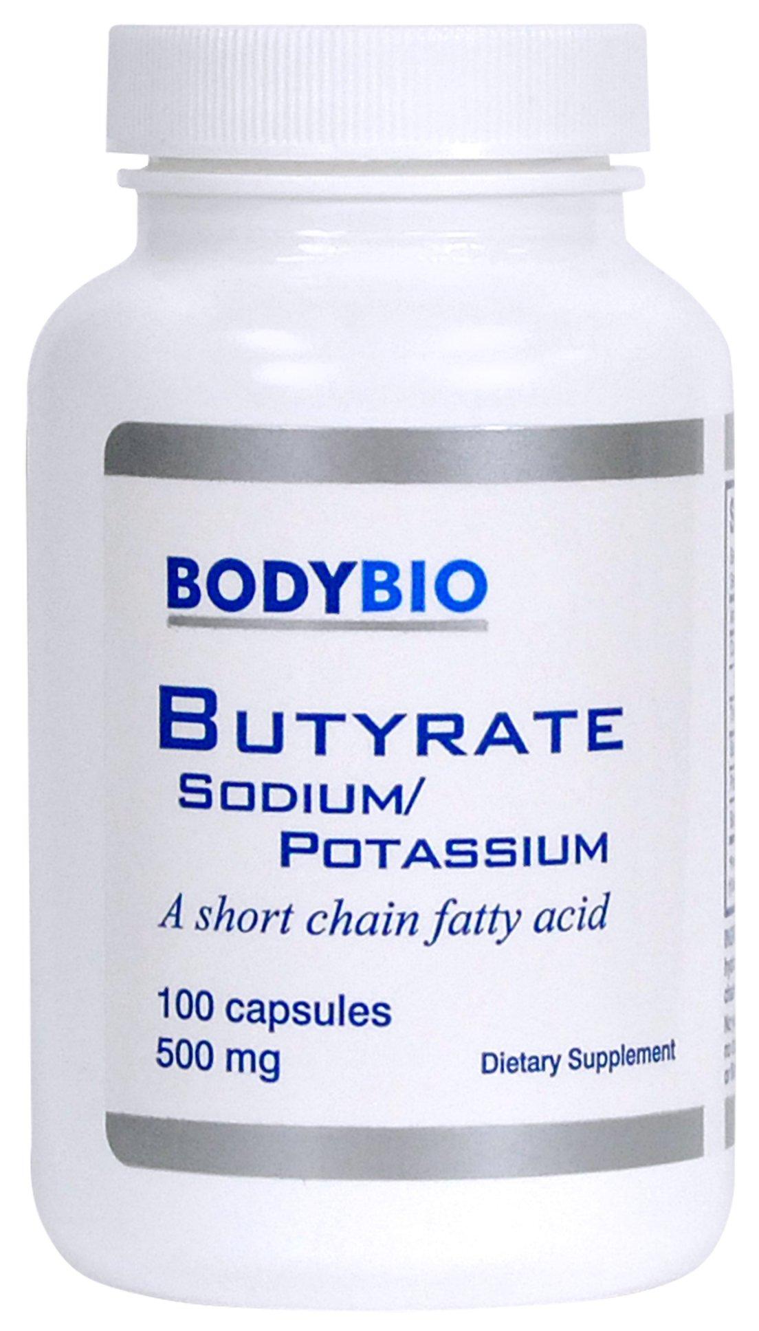 BodyBio - Butyrate Sodium-Potassium, 500mg, 100 Vegetarian Capsules