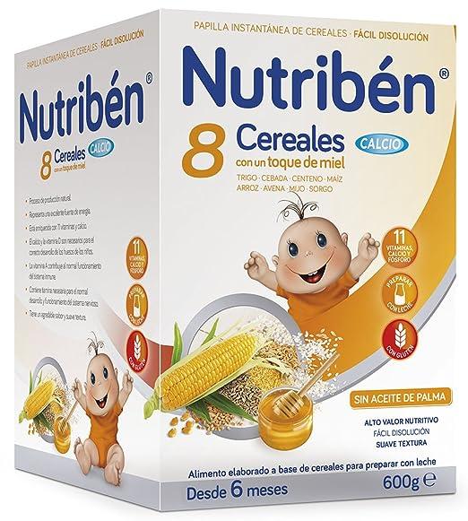 Nutribén Papilla 8 Cereales y Miel Calcio - 600 gr