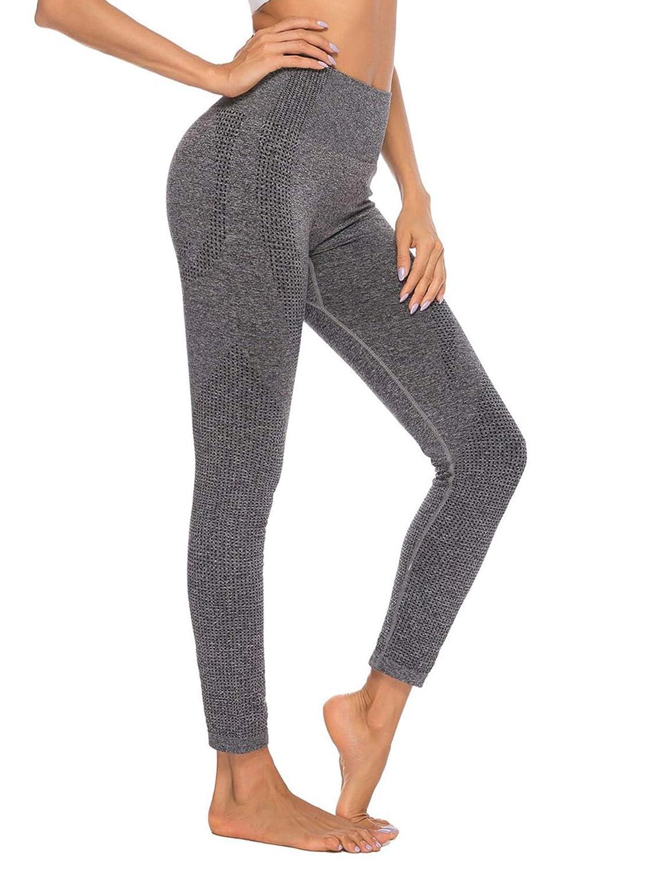 Zcfire Women High Waist Yoga Leggings Seamless Ultra Stretch Gym Workout Pants