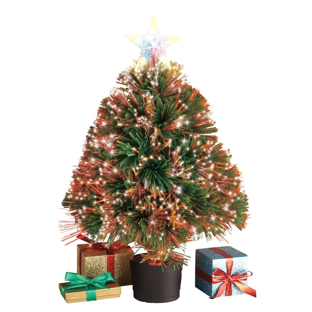 Tabletop Fiber Optic Christmas Trees Christmas Wikii