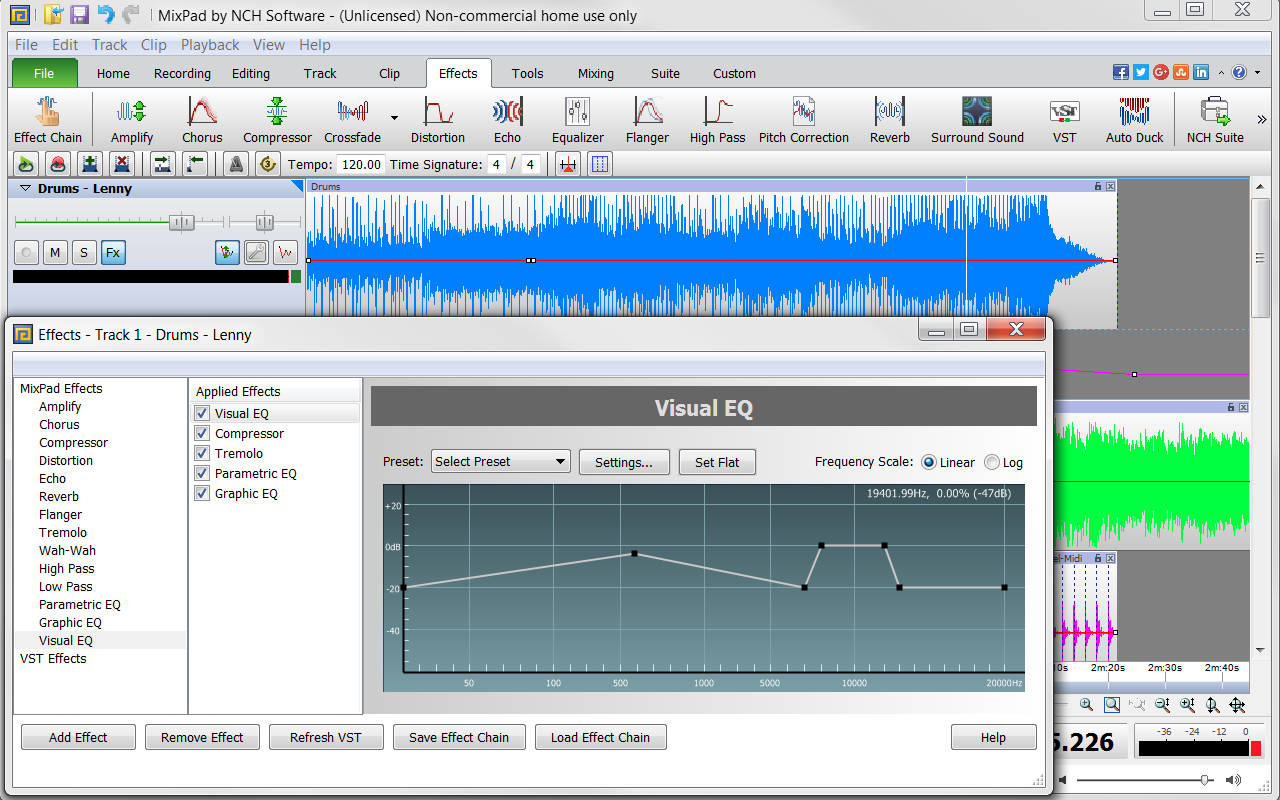 mixpad multitrack recording software app download
