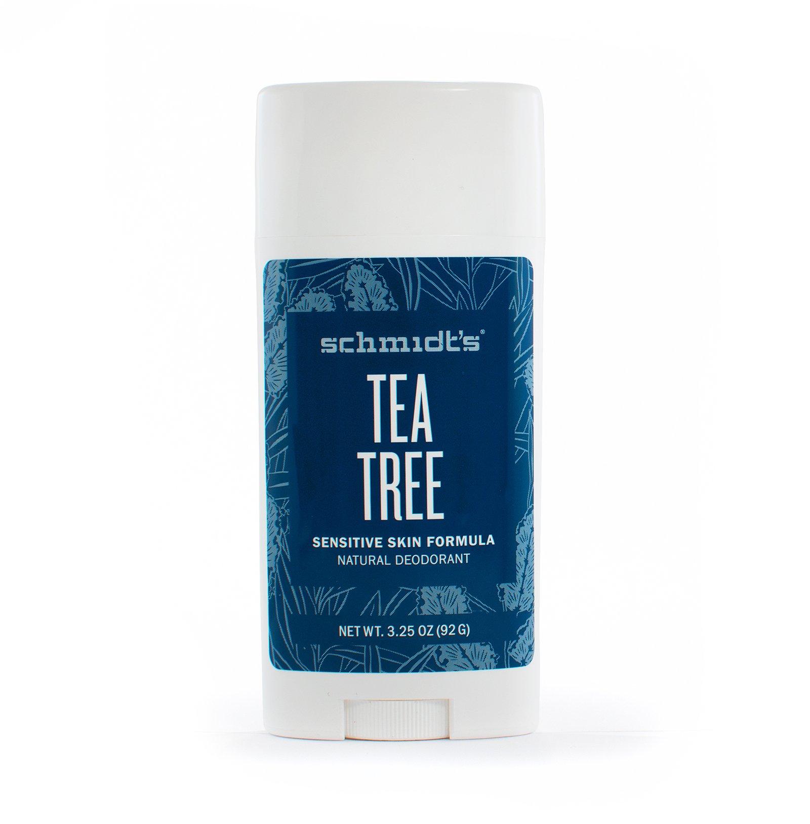 Schmidt's Natural Deodorant for Sensitive Skin - Tea Tree, 3.25 ounces. Stick for Women and Men by Schmidt's Deodorant (Image #4)