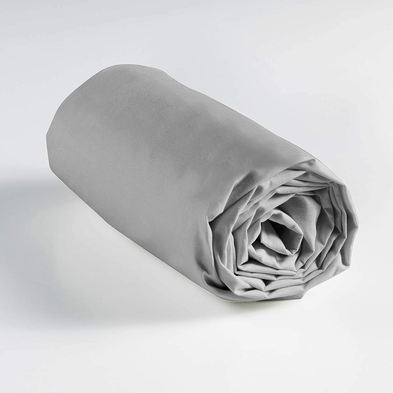 douceur dint/érieur drap plat 1 personne 180x290 cm lina naturel