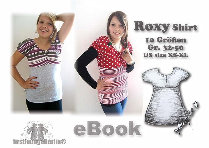 Roxy Nähanleitung mit Schnittmuster auf CD für T-Shirt Top Tunika ...
