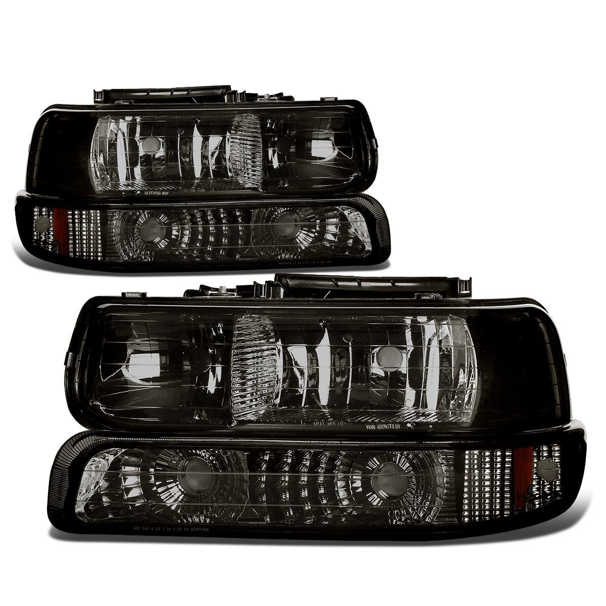DNA Motoring HL-OH-CS99-4P-SM-AB Headlight Assembly, Driver and Passenger Side