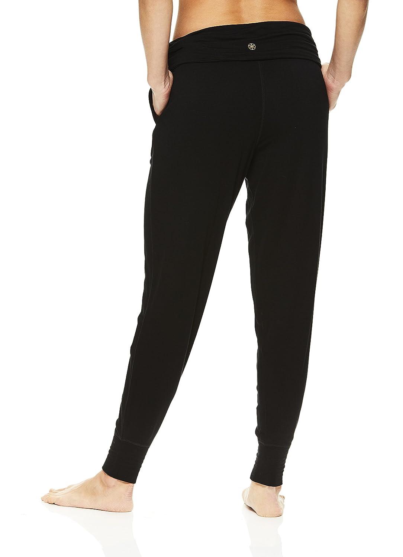 2dea8dbb2d6eb Amazon.com: Gaiam Women's Harem Yoga Pants - Activewear Bottoms  w/Drawstring Waistband: Clothing