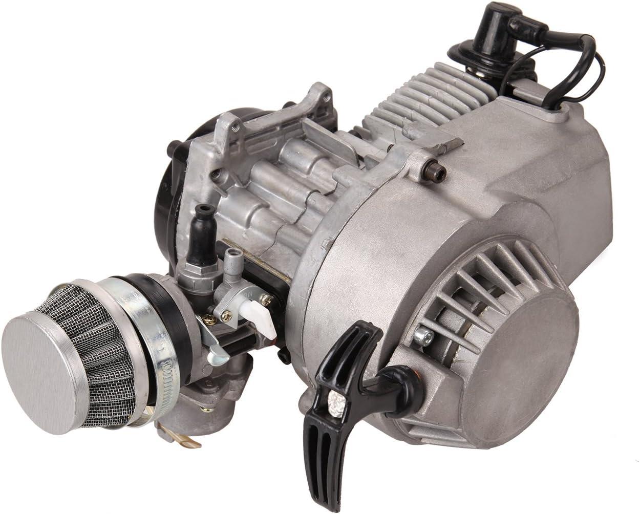 Samger Samger49cc 2 Tiempos Motor Mini Motor Pullstart Carburador Filtro de Aire Cabeza Dirt Bike Quad Pocket Bike