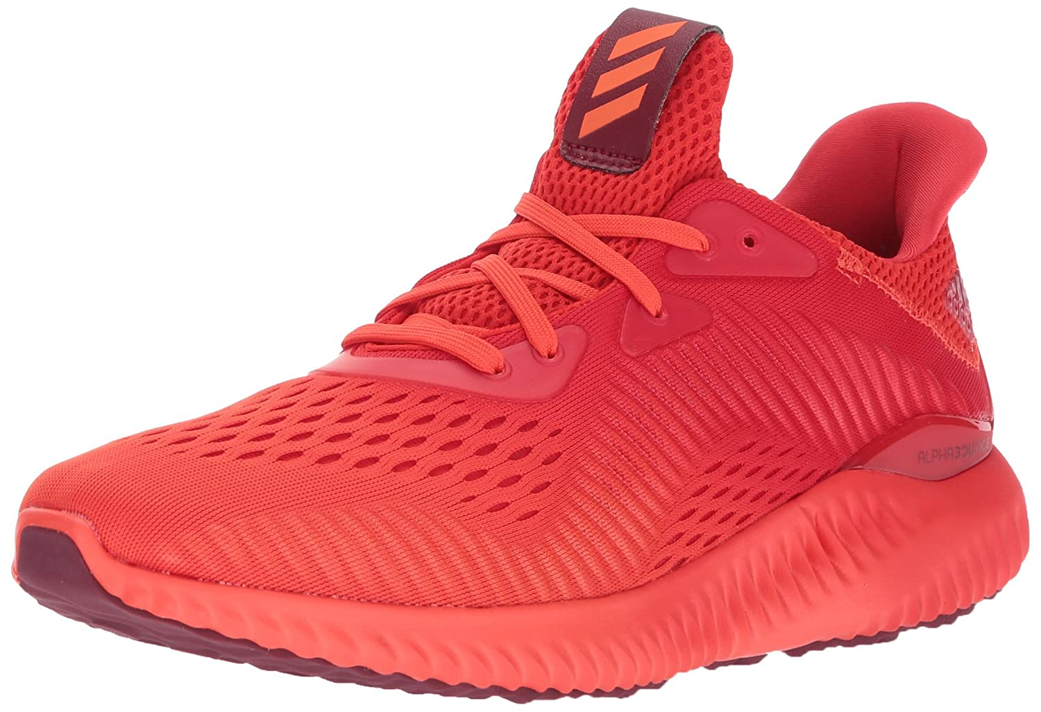 da7af6b66 Adidas Mens Alphabounce Em M Running Shoes Blaze Orange Core Red Collegiate  Burgundy low