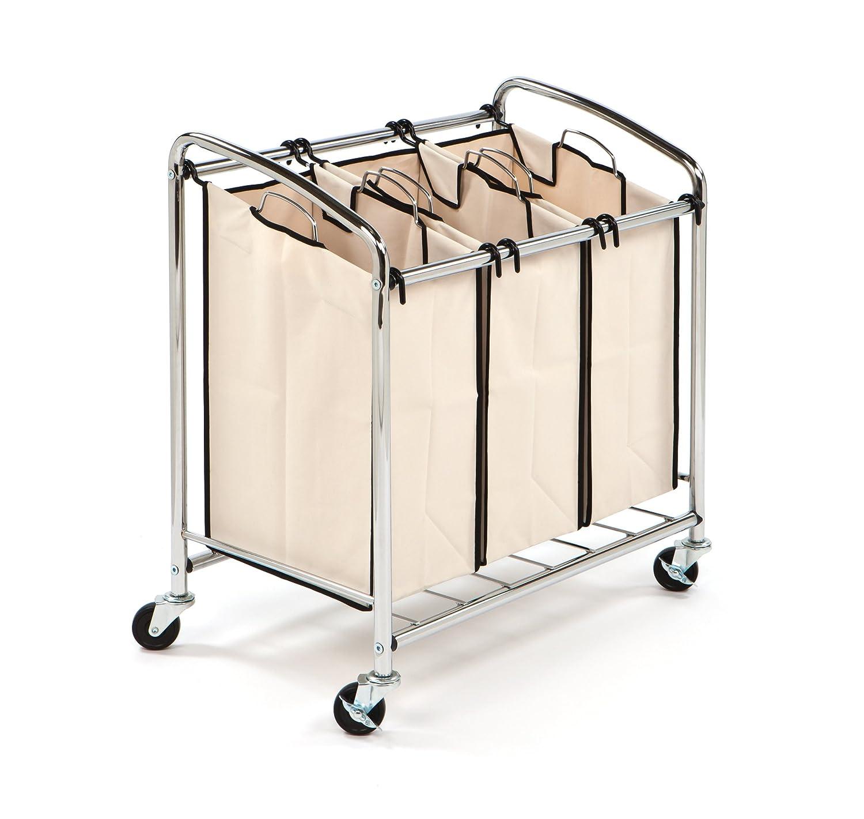 3 bag laundry sorter. Seville Classics 3Bag Laundry Sorter Beige Amazoncouk Kitchen U0026 Home 3 Bag