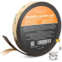Magnetic Tape, Magcifly 0.5 inch 15 feet Magnetic Strip with Strong Adhesive for Craft& DIY Projects
