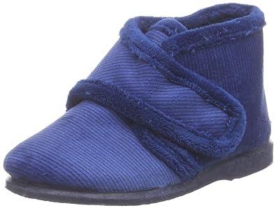 Natural World Bota Velcro Micropana, Chaussons premiers pas bébé - Bleu -  Blau (MARINO
