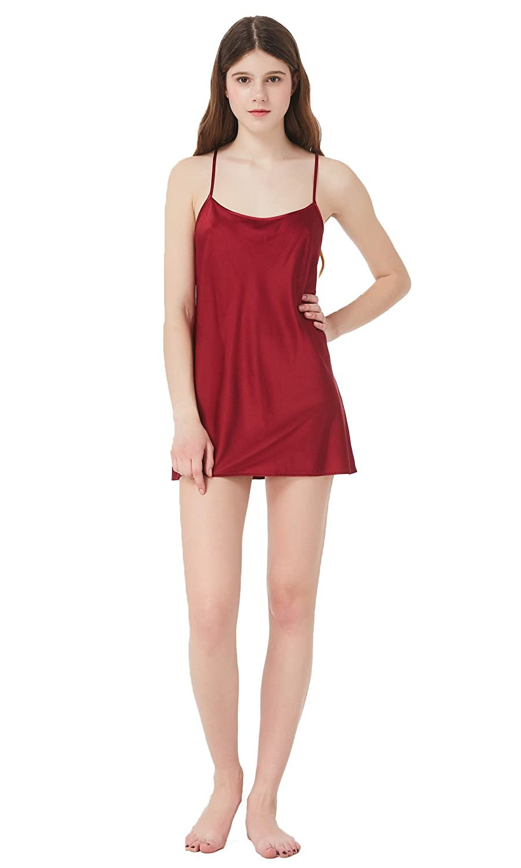 a7f464c355 Mommesilk Zauberhaftes Seidennachthemd Nachtkleid Nachthemd Damen Mini Kurz  aus Seide von 16 Momme chic