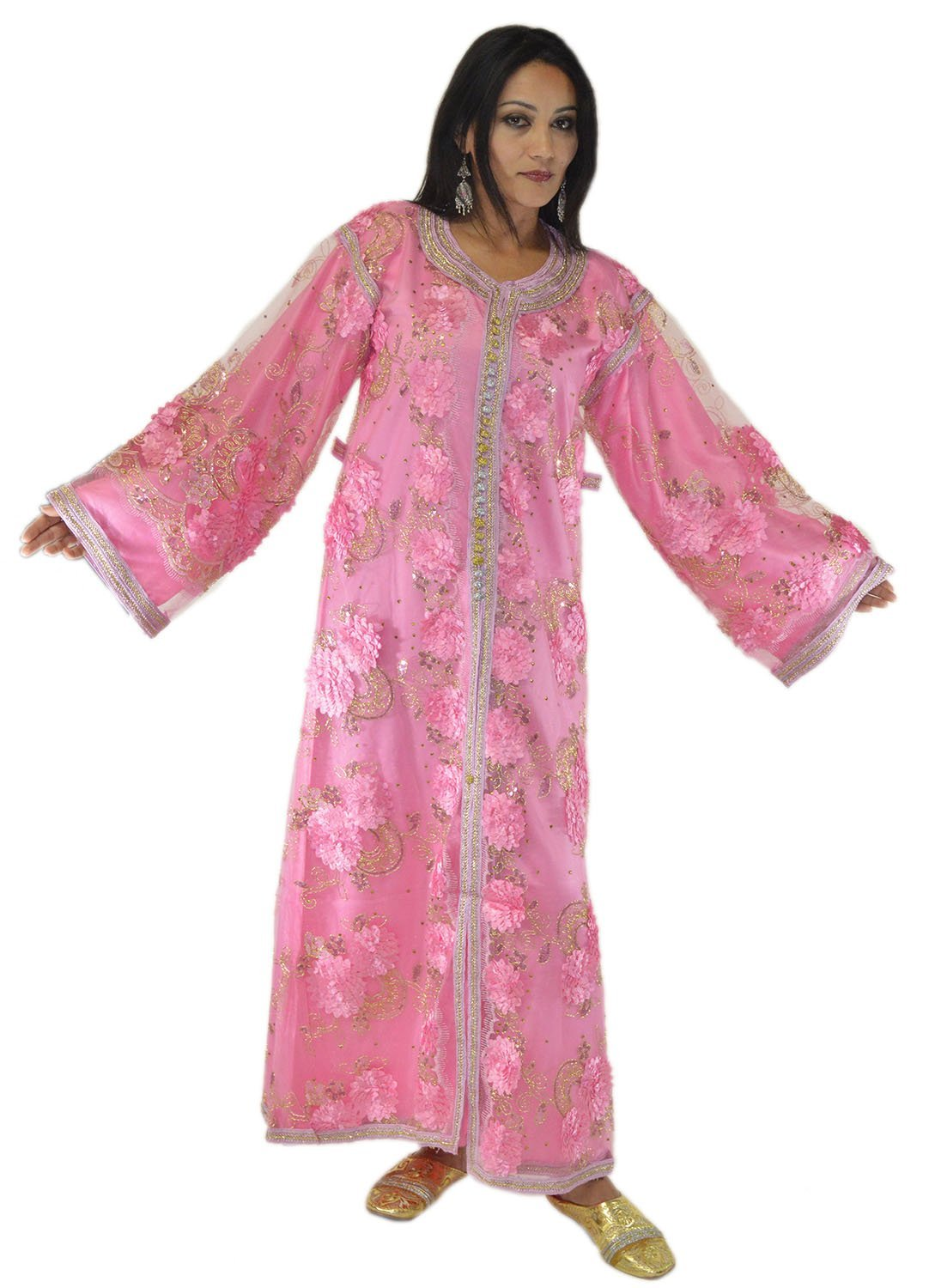 Moroccan Caftan handmade Kaftan Exquisite Wedding Gown 2 Pieces Embroidered Fits SMALL to LARGE