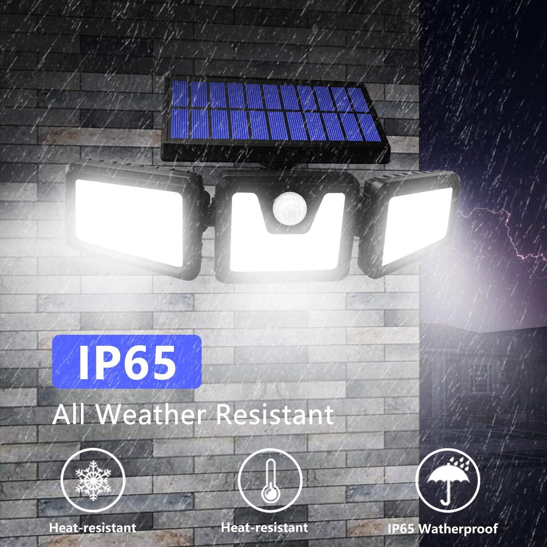 BEACON Solar Lights Outdoor, 800LM Wireless LED Solar Motion Sensor Lights Outdoor, 3 Adjustable Heads, 270° Wide Angle Illumination, IP65 Waterproof, Security LED Flood Light (2Pack): Home Improvement