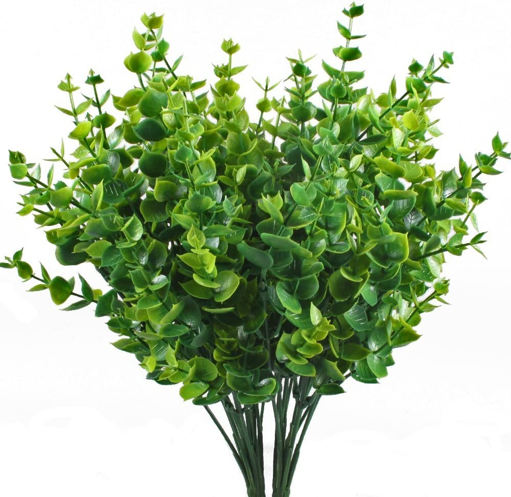Amazon Com Artificial Shrubs Hogado 4pcs Fake Plastic Greenery