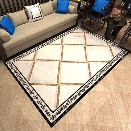 7100daeead452 Amazon.com: Area Rugs Modern Minimalist Living Room Carpet Marble ...