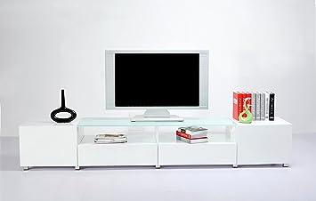 Mobile porta tv nero design moderno laccato BIANCO salotto ...