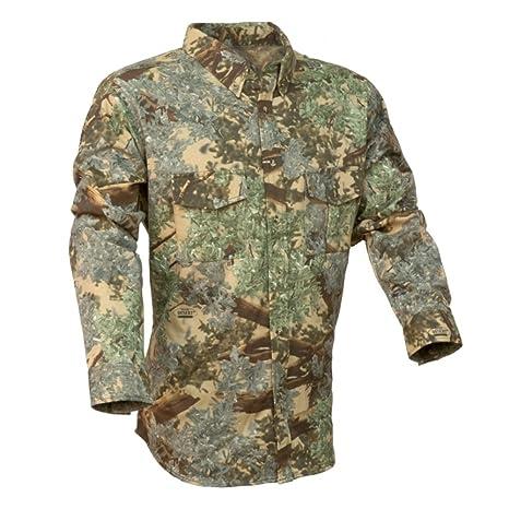 aa980d67 King's Camo Classic Cotton Button Up Long Sleeve Shirt Desert Shadow  (Medium)