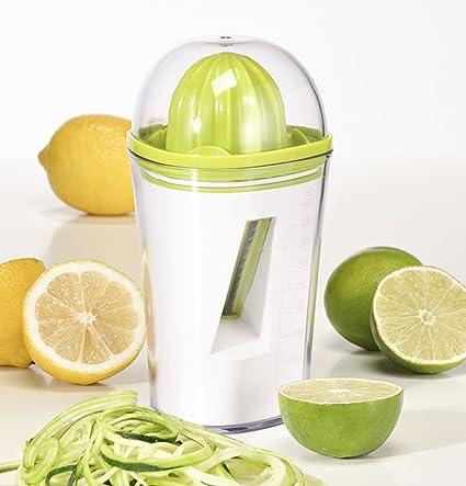Exprimidor y cortador en espiral 2 en 1 para zumos y verduras espirales 12058