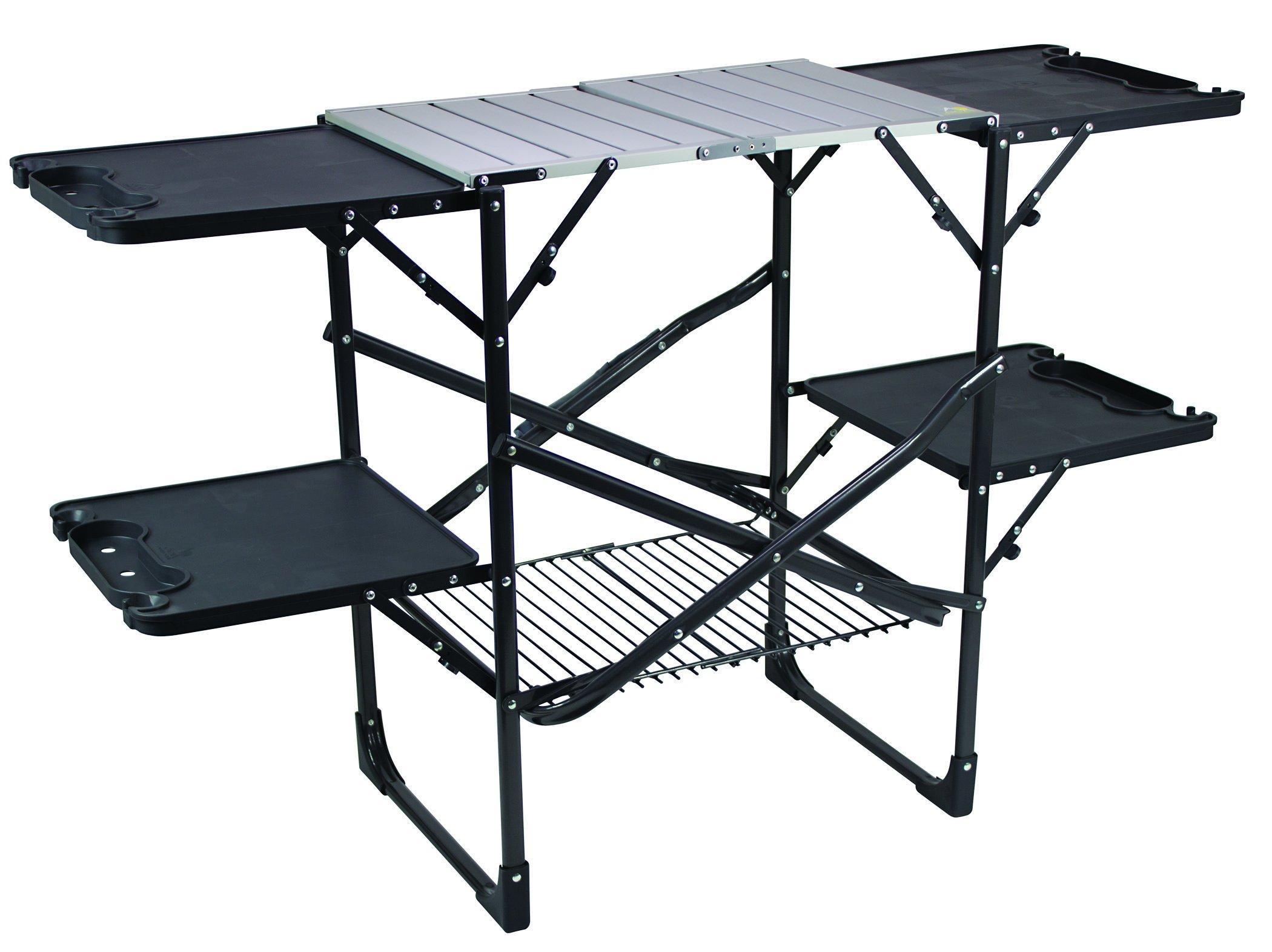 Bon GCI Outdoor Slim Fold Camp Kitchen Portable Folding Cook Station