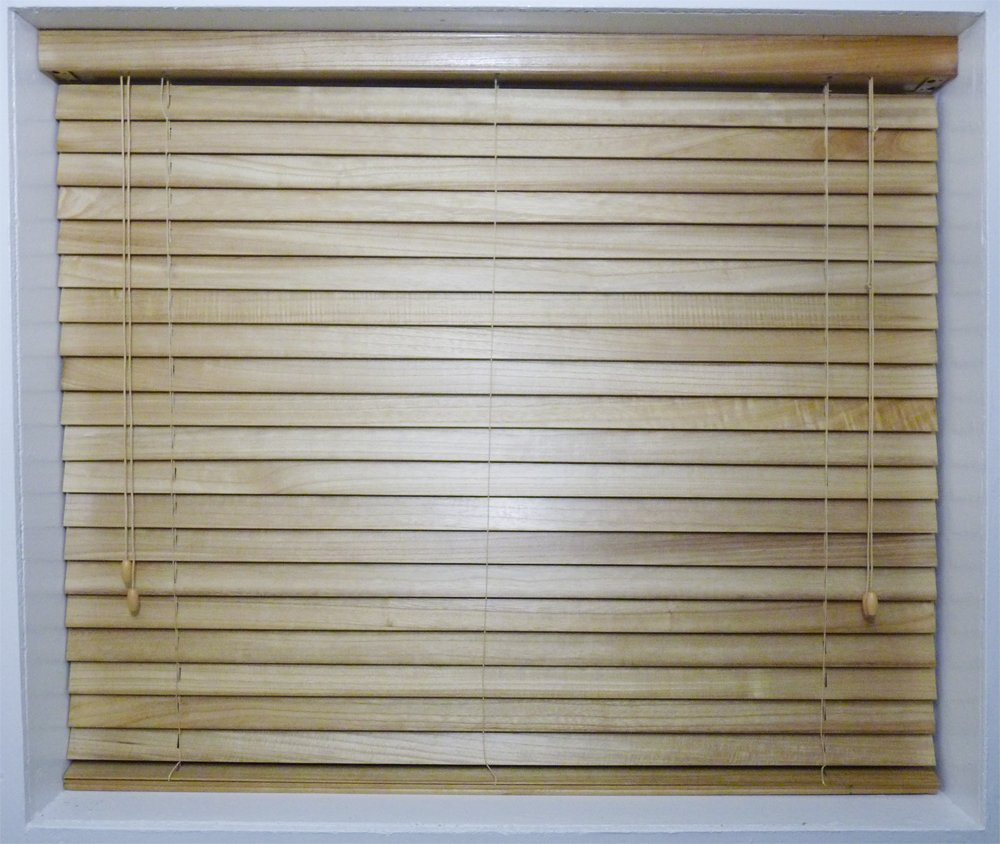 * EASY FIT SALE * NATURAL REAL WOOD VENETIAN BLINDS -25mm slats -Available in 10 sizes and 5 colours! 45