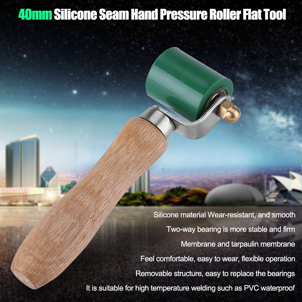 Outil de Soudure de PVC de Toiture Zerone Rouleau de Pression R/ésistant /à Haute Temp/érature de Couture de Silicone de 40mm