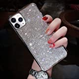 LUVI Fusicase for iPhone 11 Diamond Case Cute Bling Glitter Rhinestone Crystal Shiny Sparkle Protective Cover with Electropla