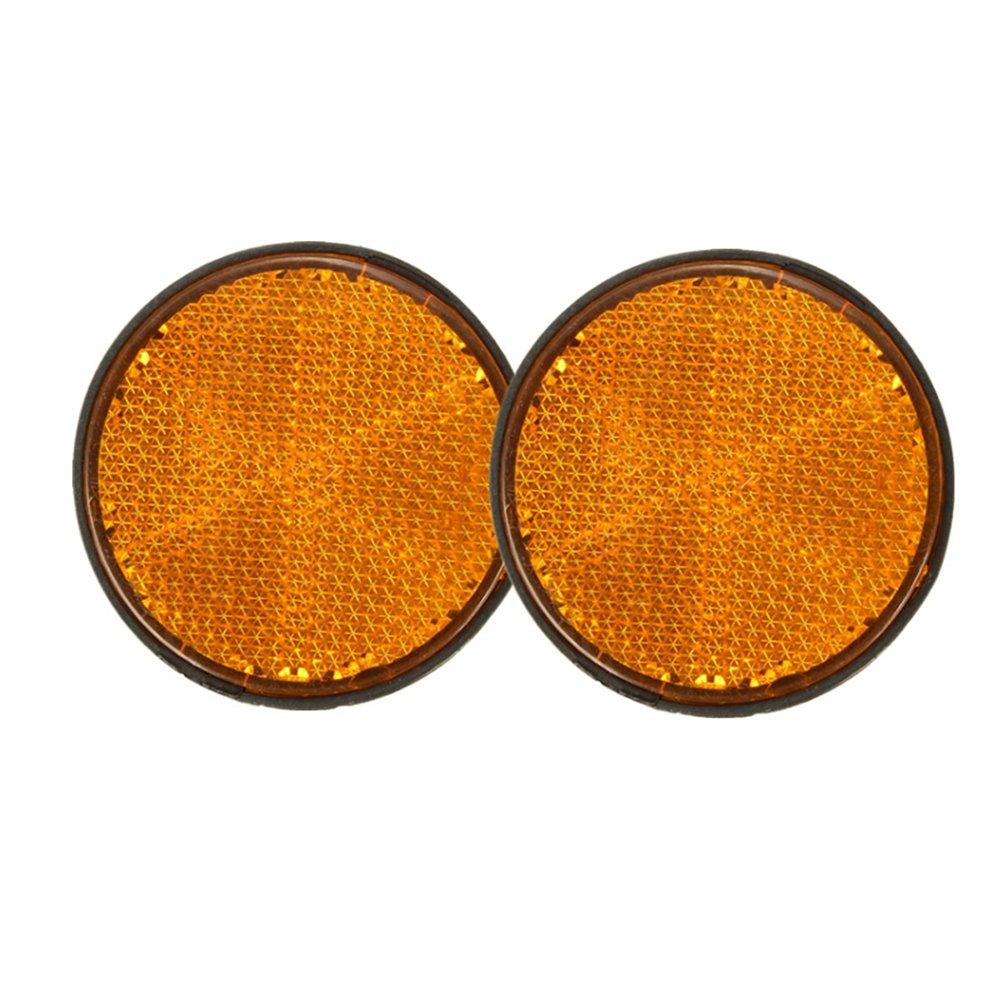 TOOGOO 2 x 2inch Round Orange Reflectors Universal for Motorcycles ATV Bikes Dirt Bikes
