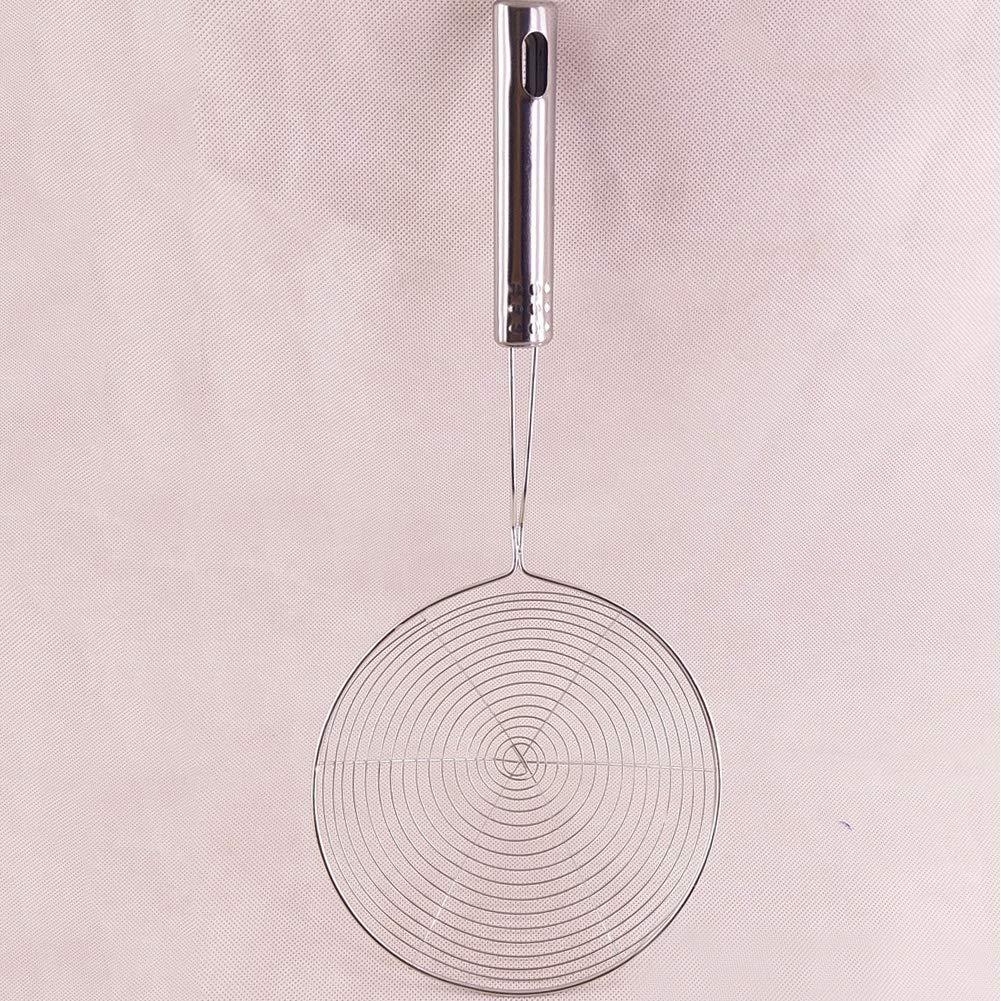 Espumadera de acero inoxidable cuchar/ón para pasta espaguetis fideos y fre/ír en herramientas de cocina Tama/ño libre plata colador de ara/ña con asa
