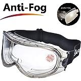 SAFEYEAR Laboratorio Gafas Protectoras de Seguridad de Obra gafas proteccion [Cinta ajustable] SG007 con Lentes…
