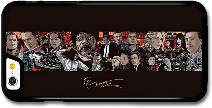 Quentin Tarantino Movie Collage Illustration Pulp Fiction Kill Bill Inglorious Basterds custodia per iPhone 6