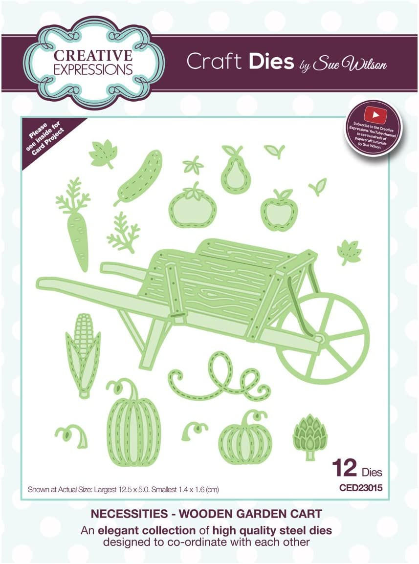 Creative Expressions Craft Dies By Sue Wilson-Necessities-Wooden Garden Cart